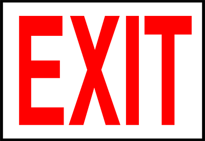 Image result for free clip art exit