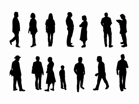 Silhouette People Walking Clipart - Clipart Kid