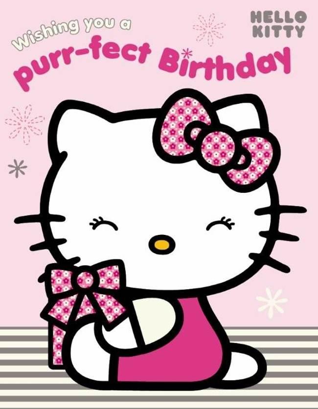 Happy Birthday Kitten Clipart - Clipart Kid