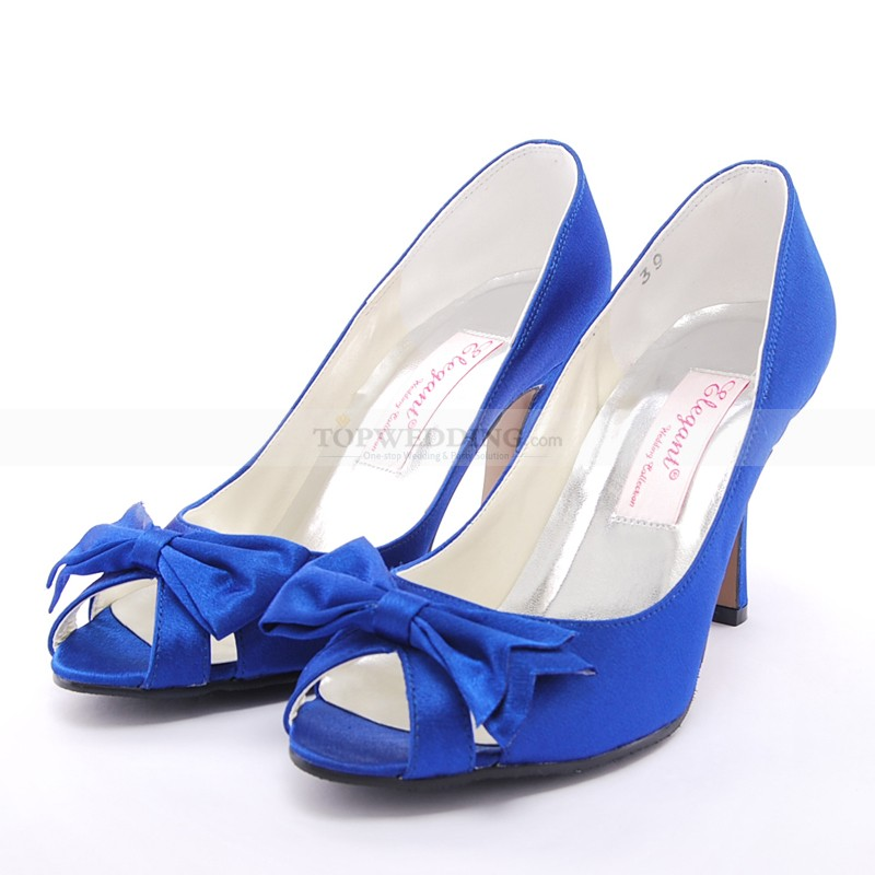 blue heels with bow fs heel