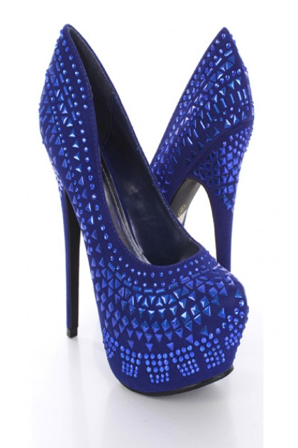 Royal Blue High Heel Shoes Clipart - Clipart Kid