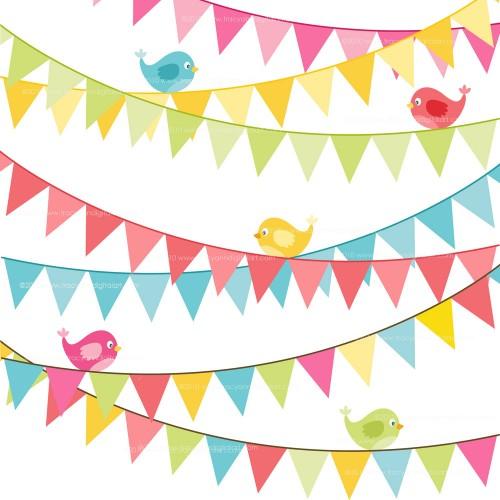 Clip Art Flag Banner Clip Art flag banner clipart kid clip art birthday bright colors set 6