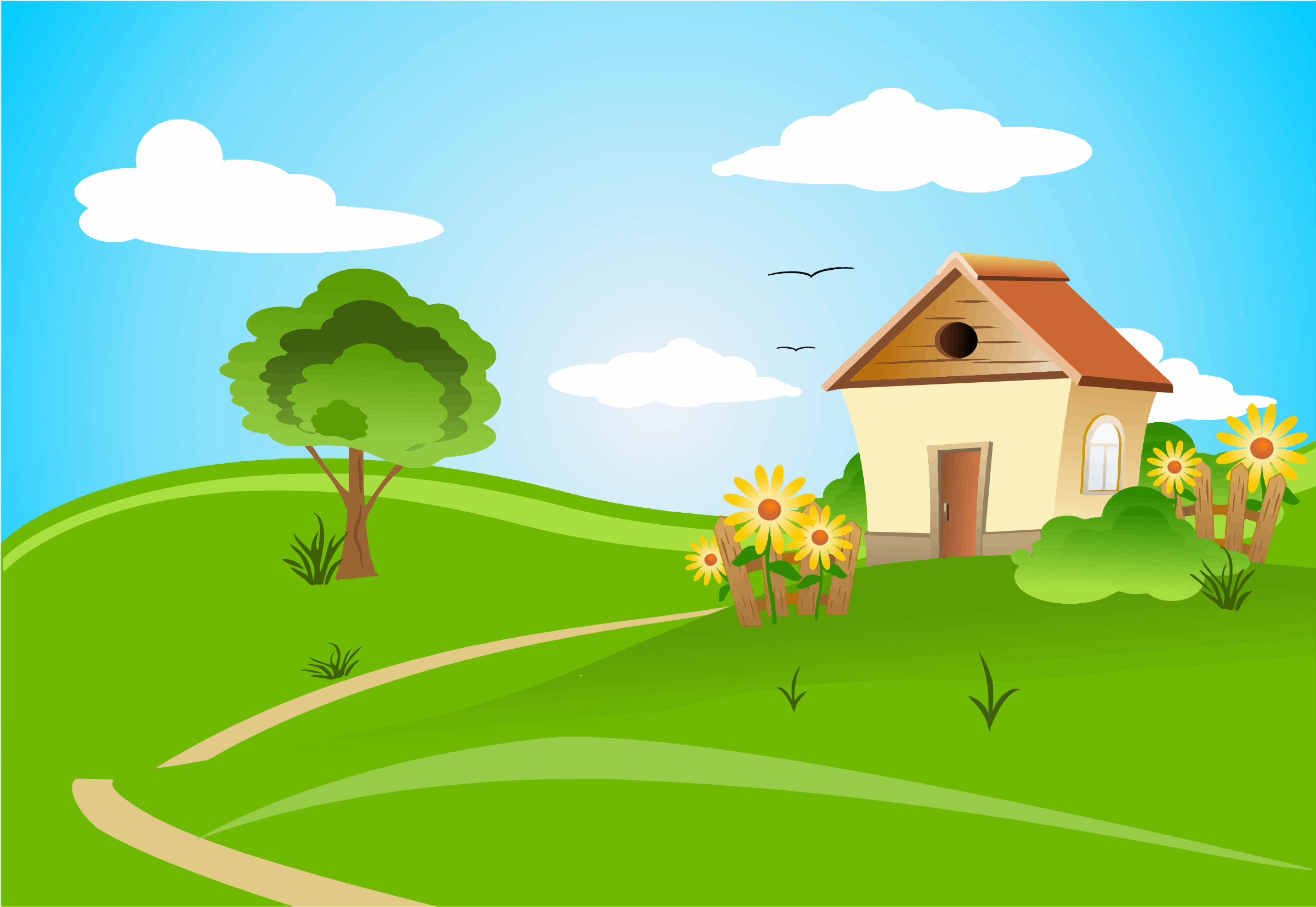 Rolling Hills Clipart - Clipart Kid