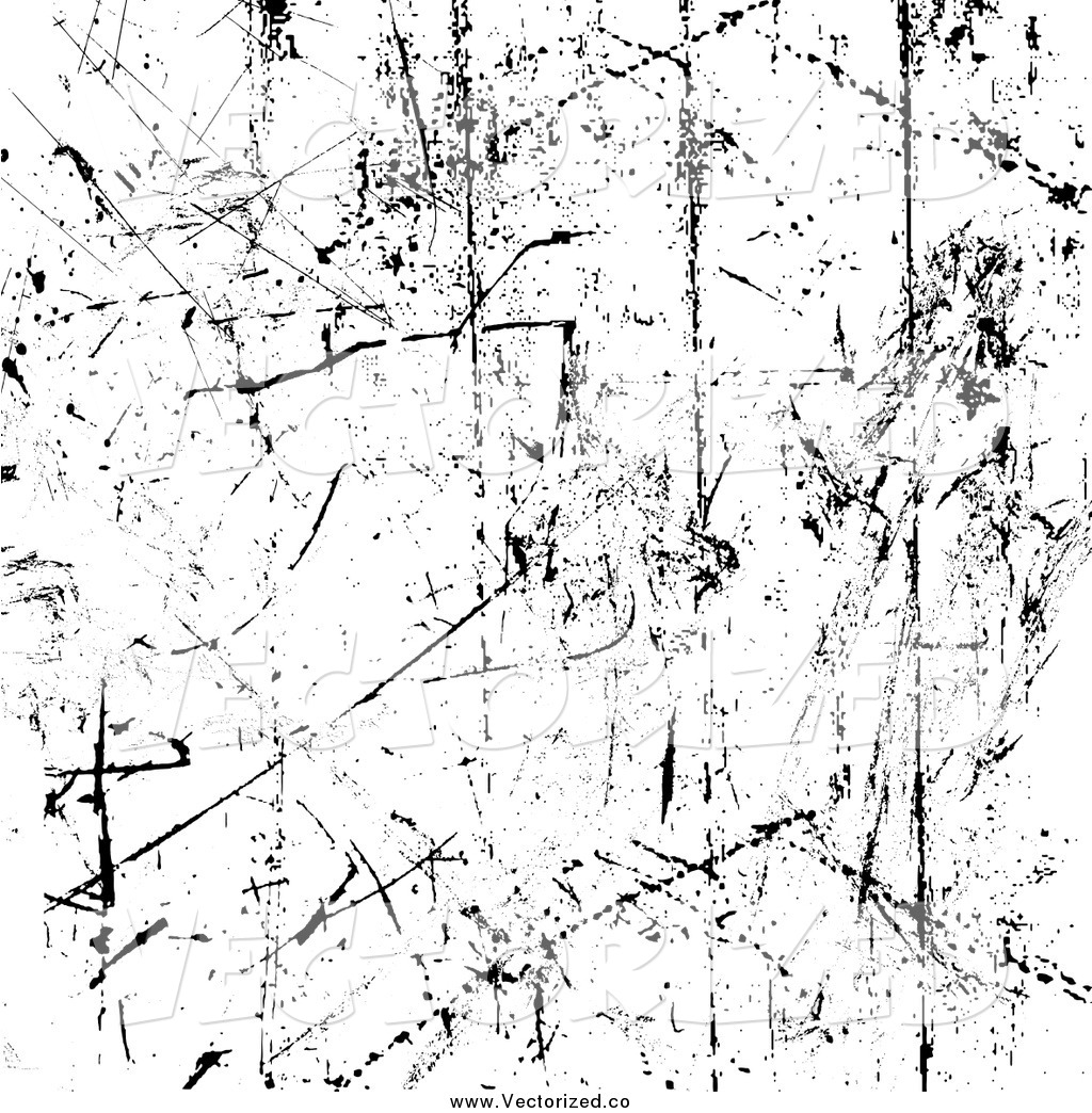Clipart Of A Grungy Scratched Texture Background In Black And White By