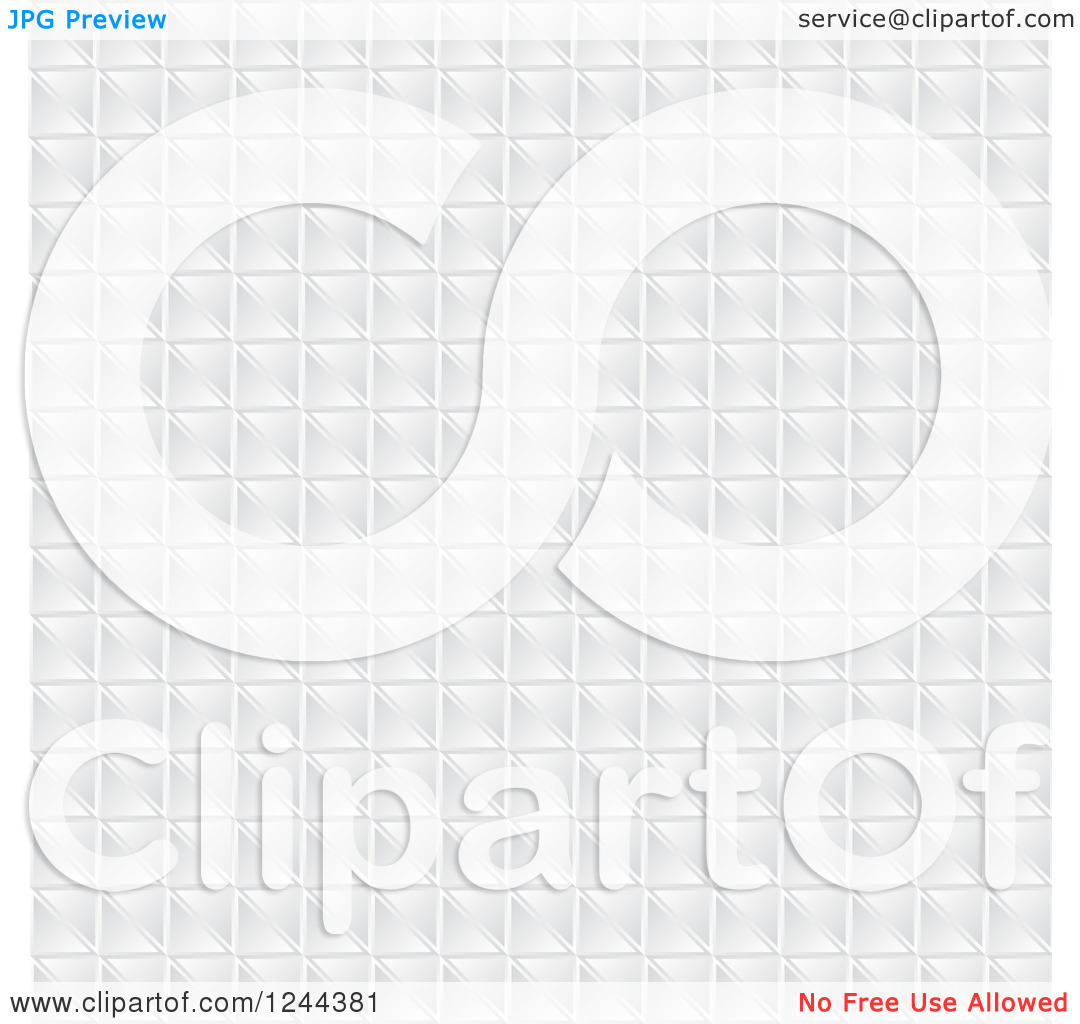 Clipart Of A White Pixel Tile Or Square Background Texture   Royalty