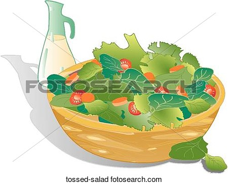 Clipart Of Tossed Salad Tossed Salad   Search Clip Art Illustration