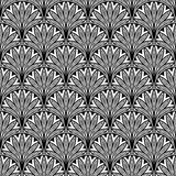 Floral Seamless Pattern With Black Royalty Free Stock Photography