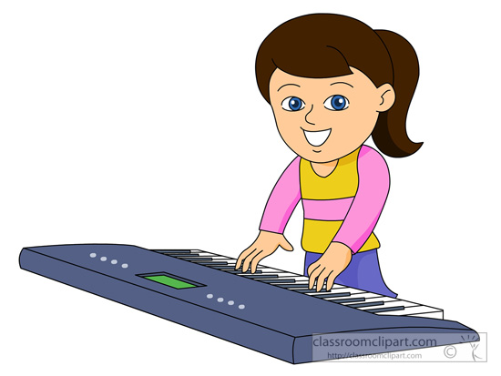 clipart girl playing piano - photo #12