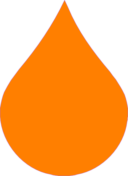 Cliparts Water Drop Orange Clipart - Clipart Suggest
