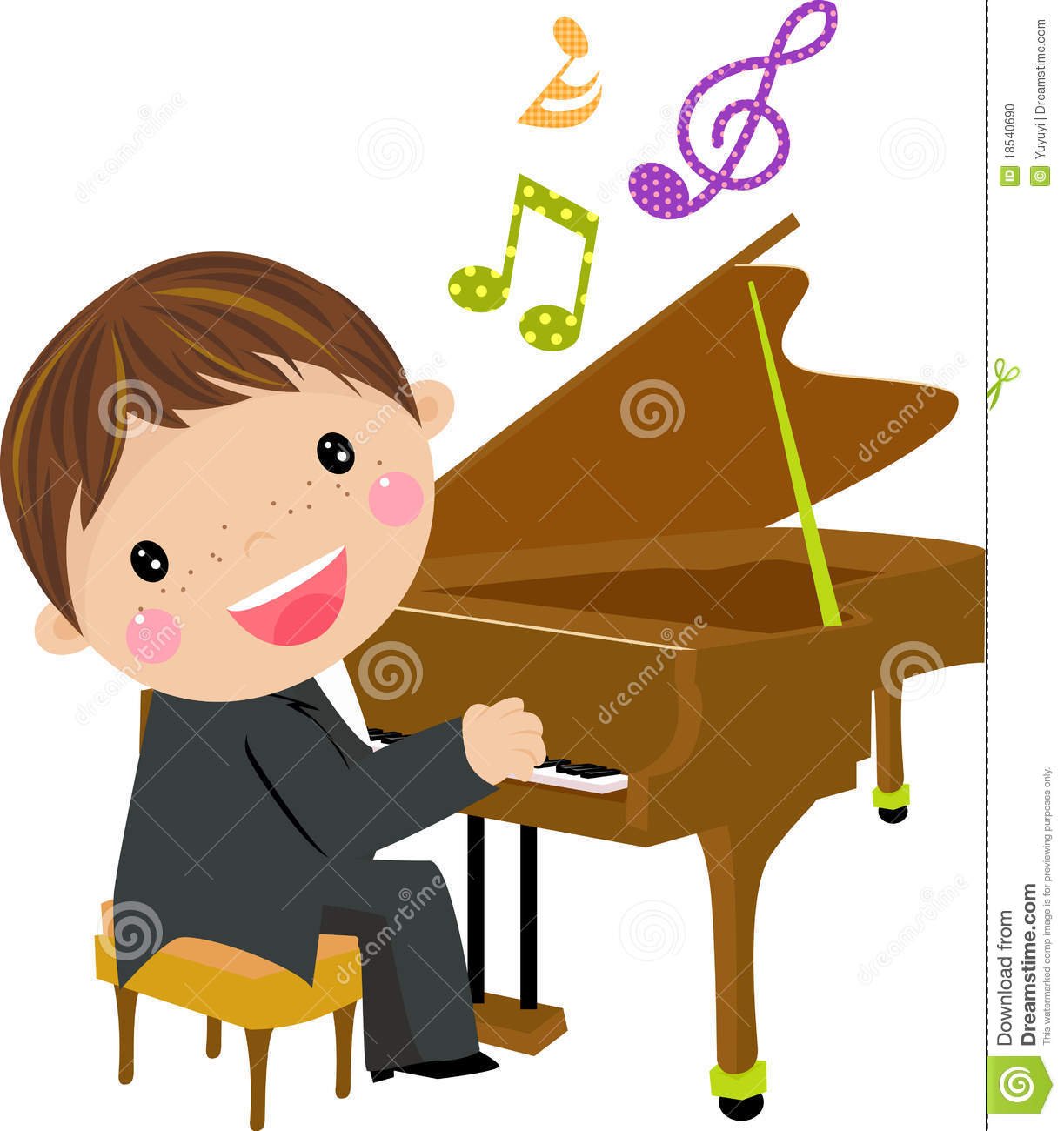 clipart girl playing piano - photo #5