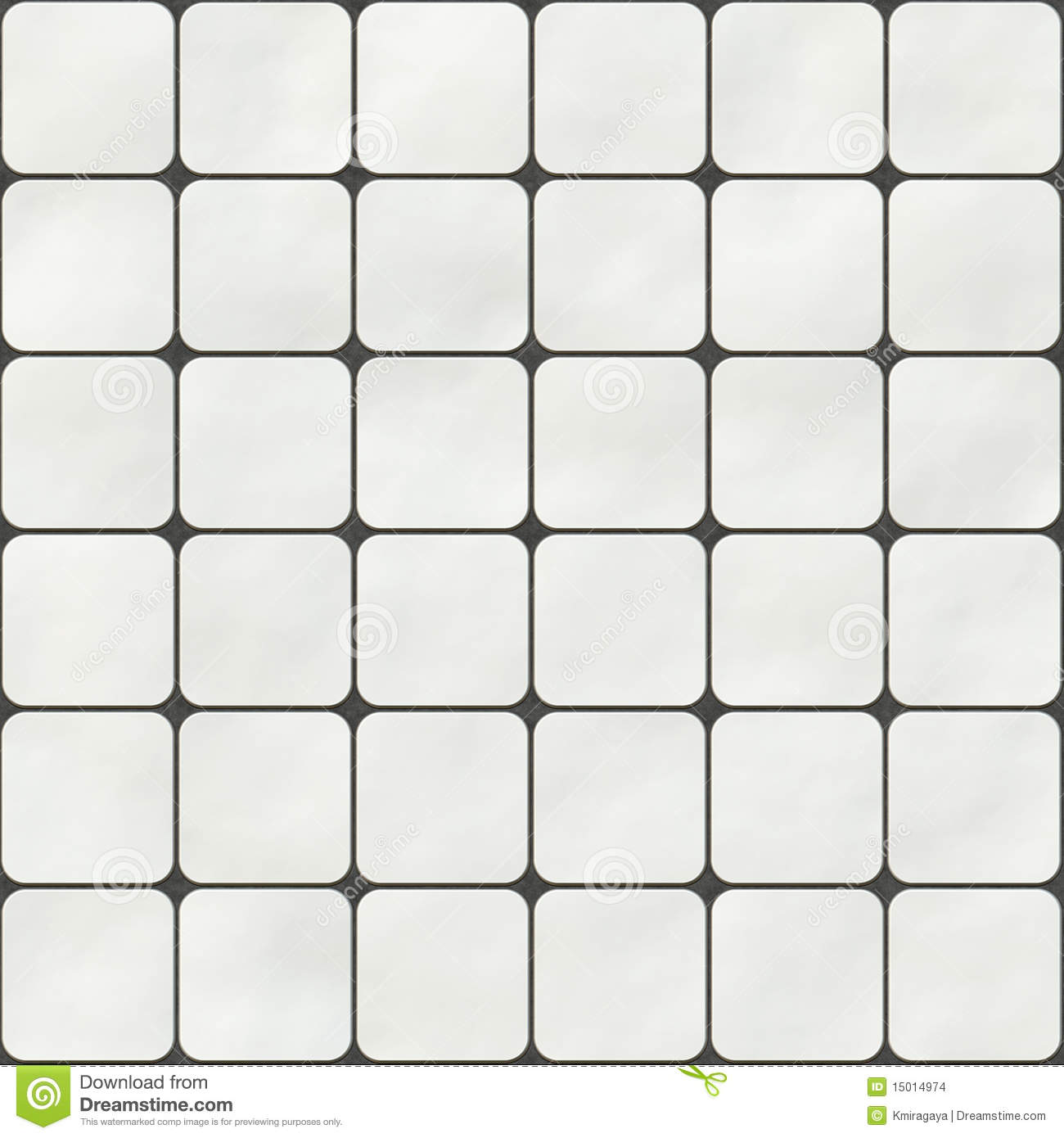 Seamless Texture Made Of White Square Tiles Stock Images   Image