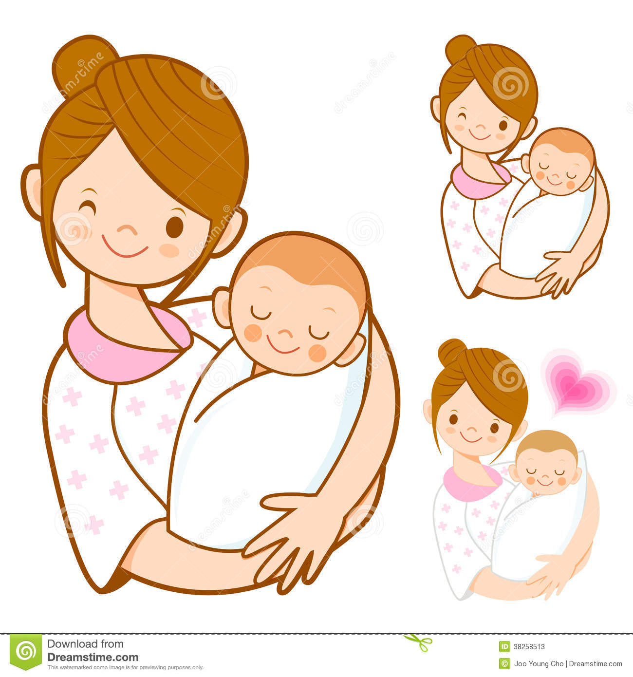 Mother And Newborn Baby Clipart - Clipart Kid