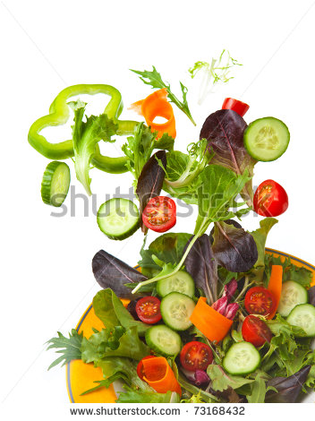 Tossed Salad Clipart Mixed Crisp Salad Being Tossed