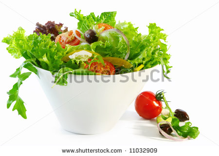 Tossed Salad Clipart Tossed Green Salad In A White
