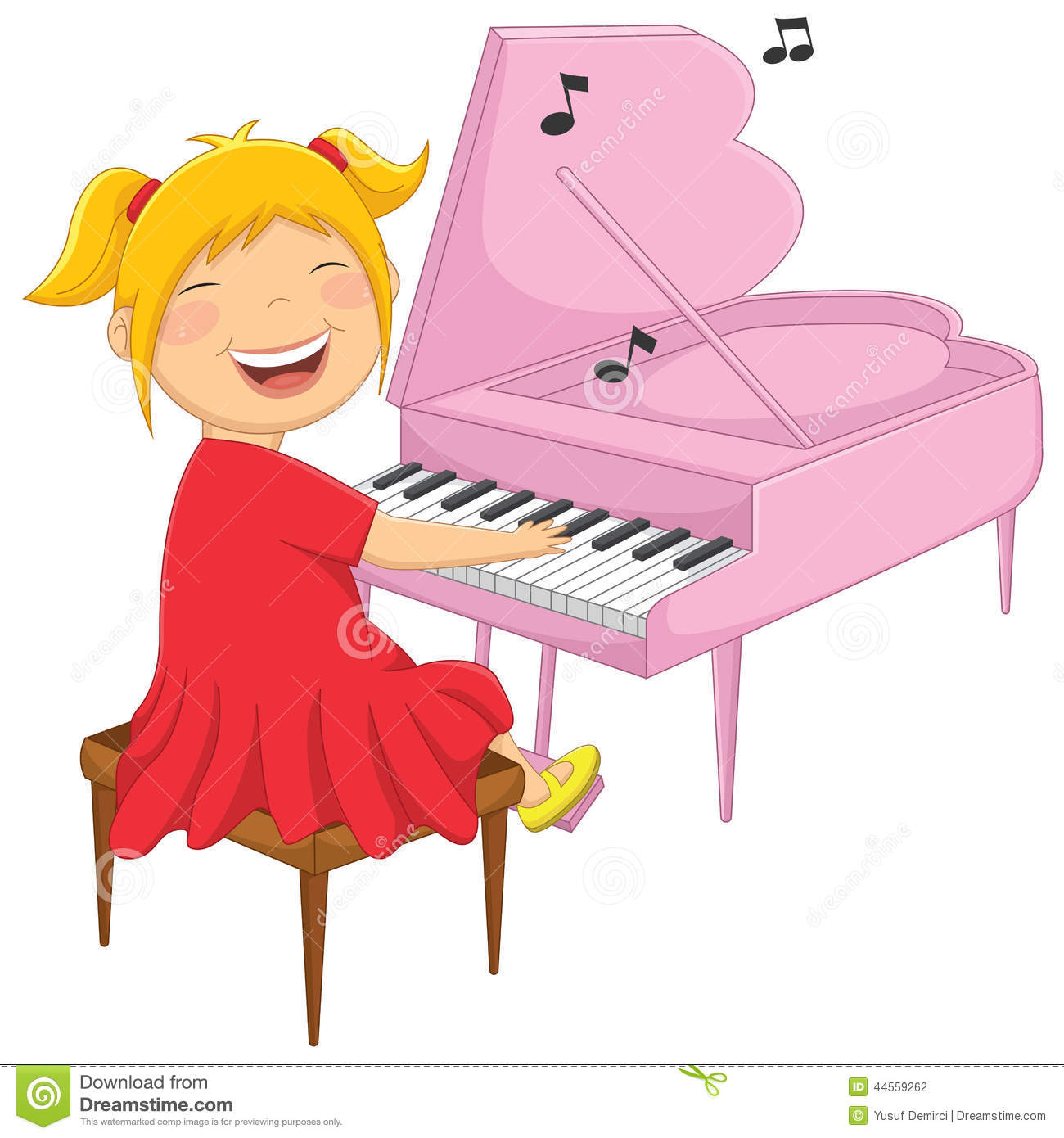 clipart girl playing piano - photo #8