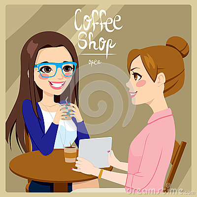 Women Drinking Coffee Royalty Free Stock Photography   Image  36518557
