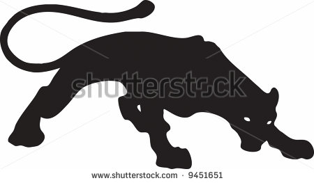 Black Puma Or Phanter Wallpaper Background Flayer Logo Stock Clipart