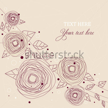 Download Source File Browse   Nature   Vintage Roses Doodle Flowers
