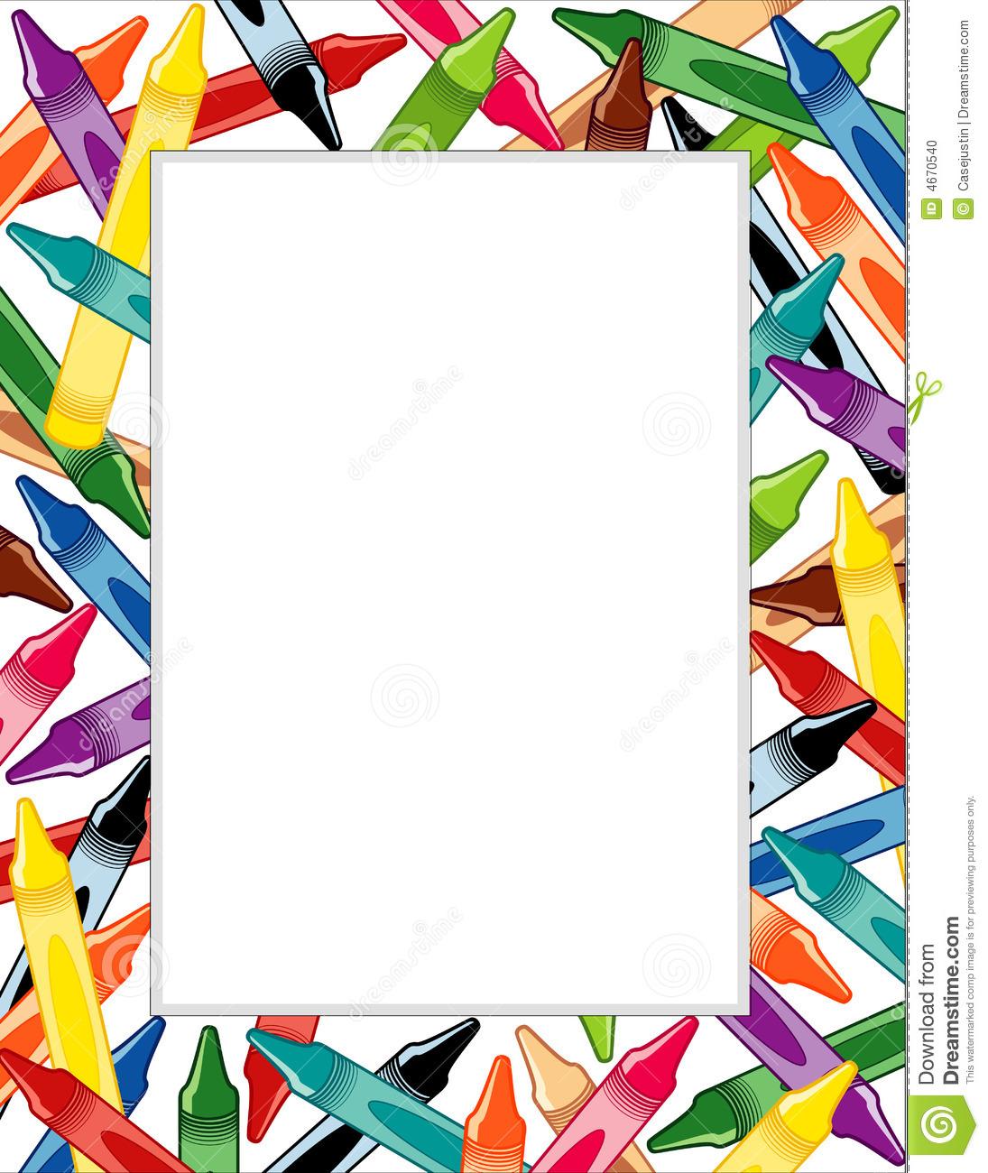 Crayon Border Clipart - Clipart Suggest
