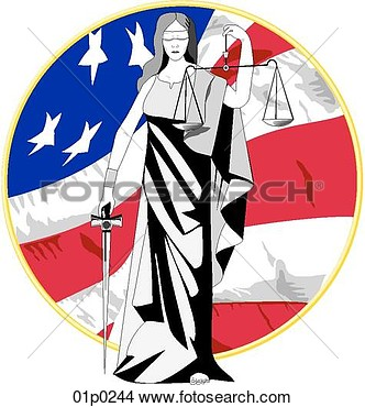 Lady Justice View Large Clip Art Graphic