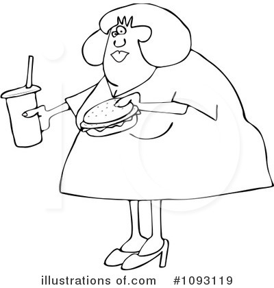 Obese Clipart  1093119 By Djart   Royalty Free  Rf  Stock