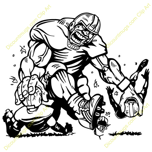 Panther Football Clip Art Big Player Crushing
