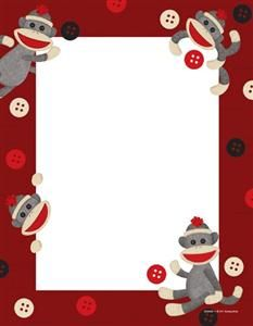 Sock Monkeys Letterhead   Sock Monkey   Pinterest