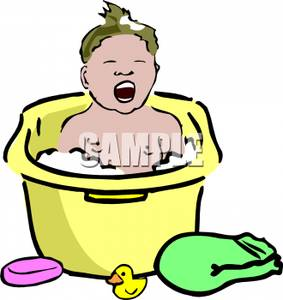 Toddler Bath Clipart - Clipart Kid