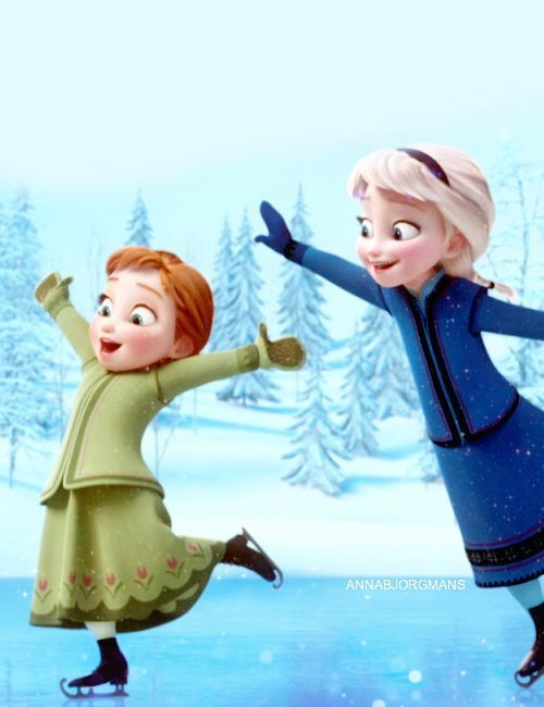 Anna And Elsa From Frozen   Disney   Pinterest   Elsa Anna And Frozen