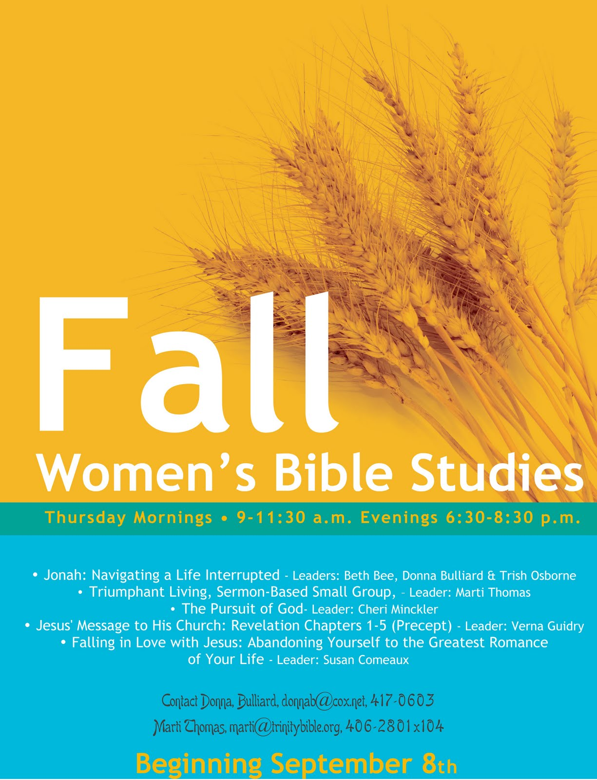 Women 39 s fall bible study clipart clipart suggest for Research study flyer template