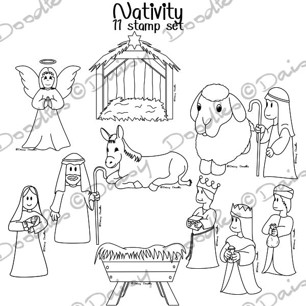 nativity black and white clipart clipart suggest