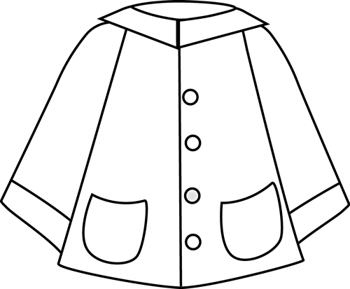 Raincoat Black And White Clipart - Clipart Kid