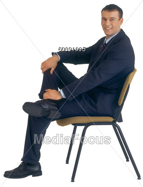 Chair Side Clipart   Image 60091005   Business Man Sitting On Chair