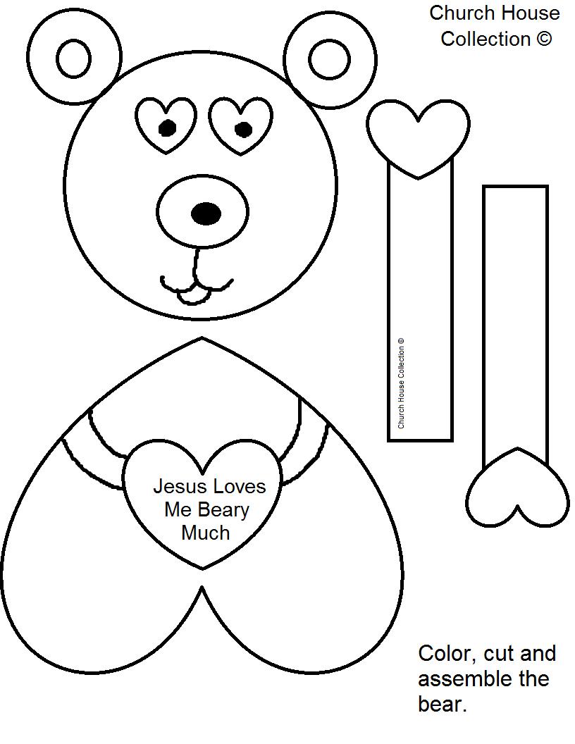 Printable Valentine Bear Clipart - Clipart Kid