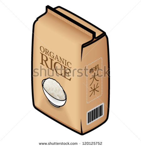 Clipart Bag Of Rice A Pack Bag Of Organic Rice
