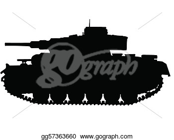 Clipart   Ww2 Series   German Panzer Iii Tank  Stock Illustration