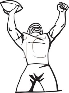 Football Player Clipart Black And White   Clipart Panda   Free Clipart