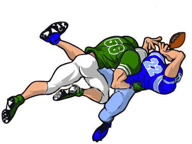 Football Player Tackling Cartoon   Clipart Panda   Free Clipart Images