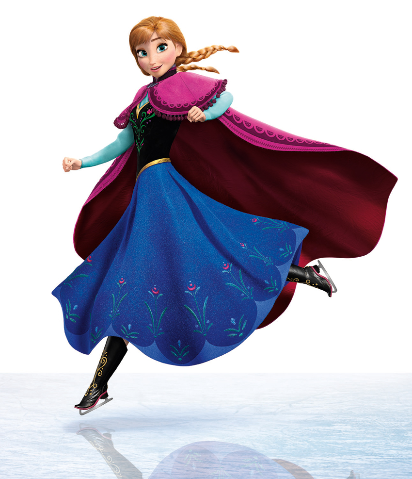 Frozen Anna Ice Skating
