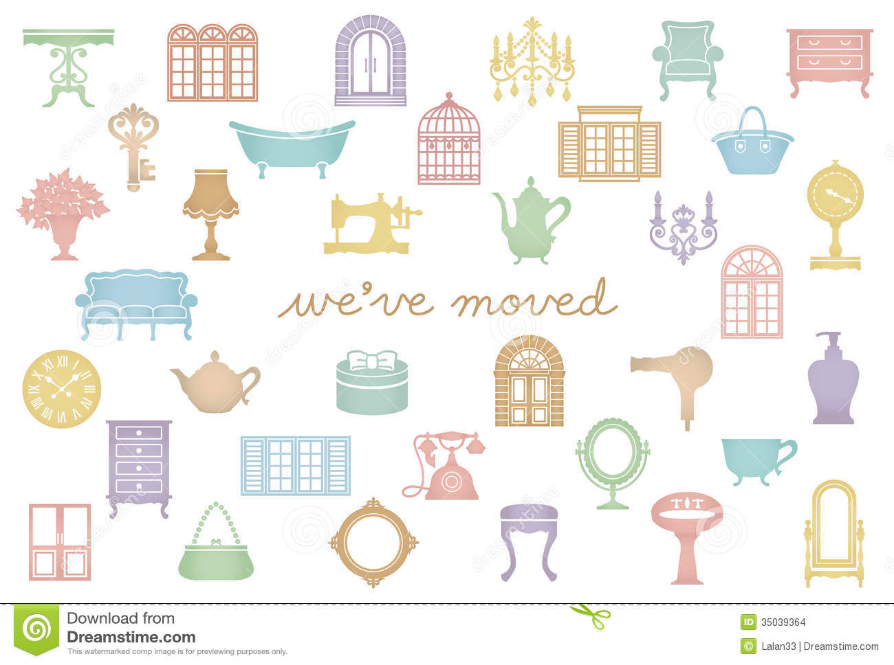 House Moving Greeting Card  We Ve Just Moved  Stock Images   Image