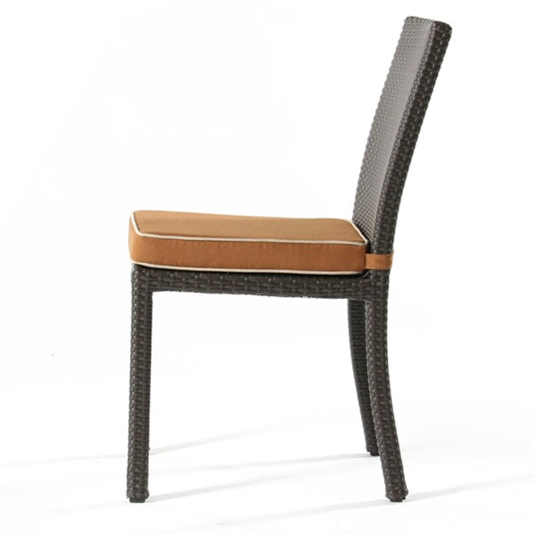 Nci Cabo Wicker Side Chair Side View