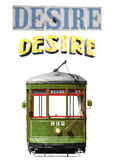 New Orleans Desire Streetcar Royalty Free Stock Images