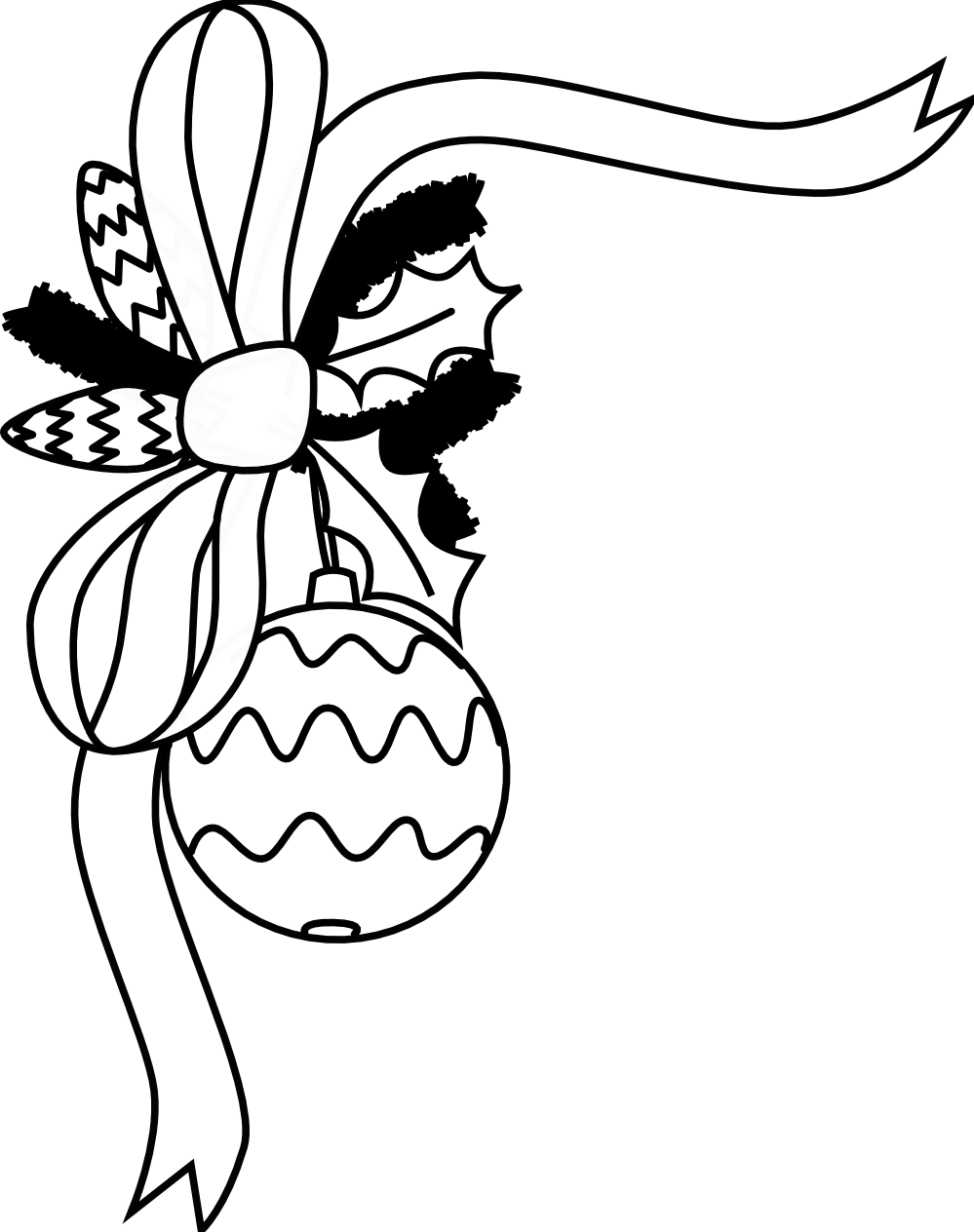Ornament Clipart Black And White Black And White Christmas Decorations