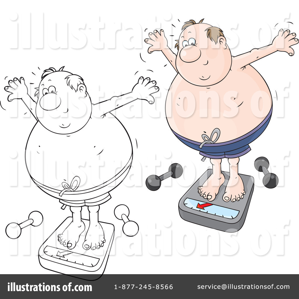 Overweight Clipart  1212531 By Alex Bannykh   Royalty Free  Rf  Stock