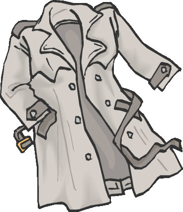 Raincoat Black And White Clipart - Clipart Suggest
