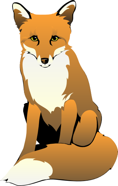 Sitting Fox Clip Art At Clker Com   Vector Clip Art Online Royalty