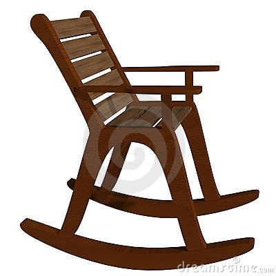Stock Images  Wooden Rocking Chair Side View  Image  14735244