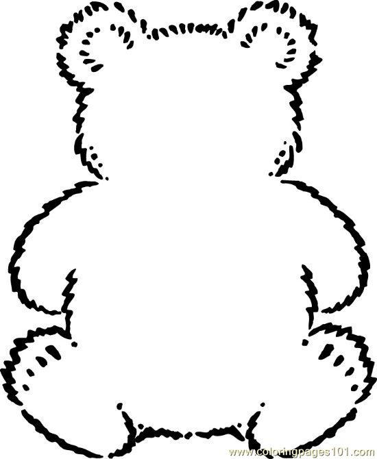 Teddybear Coloring Page   Free Printable Coloring Pages
