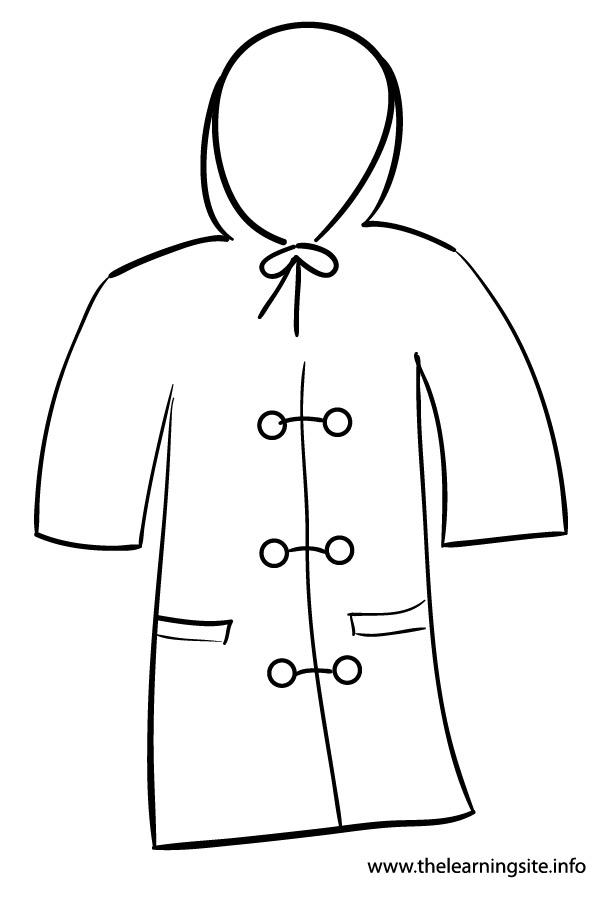 Rain Coat Clip Art Raincoat Black And Whi...