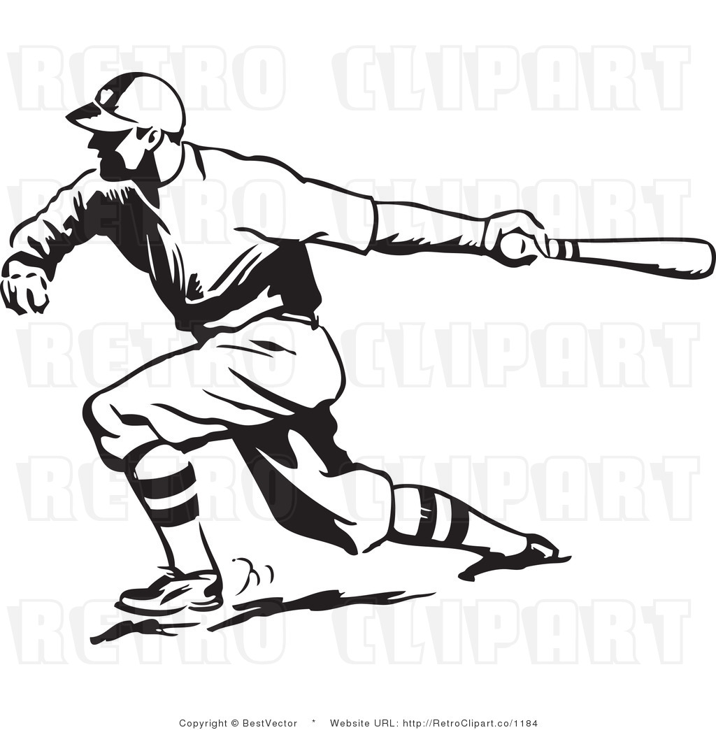 Vintage Baseball Players Clipart - Clipart Kid